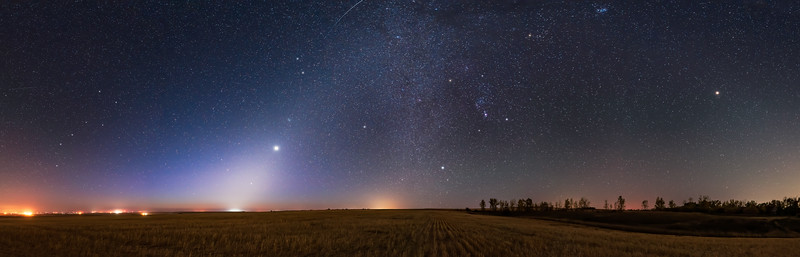 Zodiacal Light with Venus and Mars