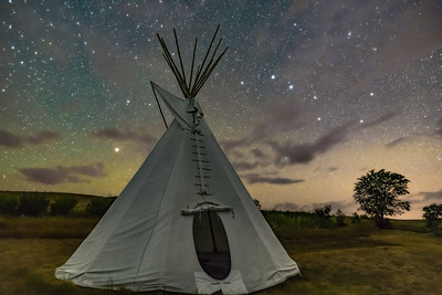Big Dipper over Tipi at Grasslands