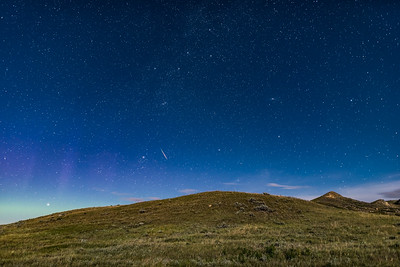 Lone Perseid in the Moonlight