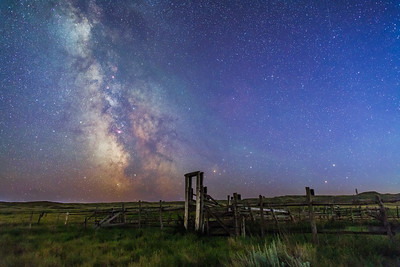 Mars, Saturn & Milky Way over Ranch Corral