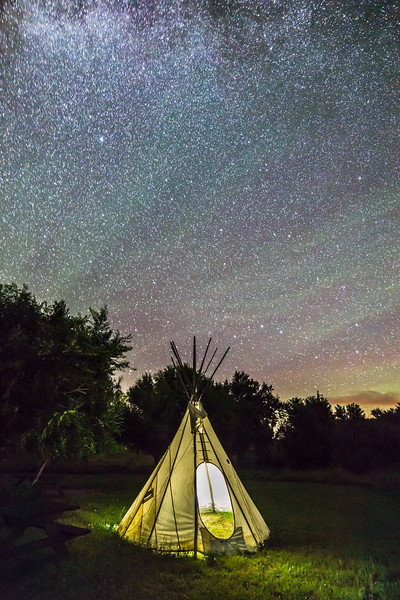 Tipi and Big Dipper at Grasslands Park