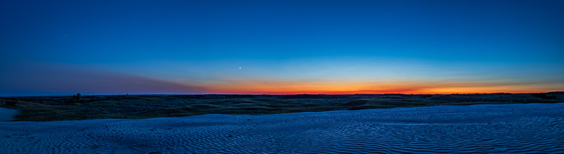 Twilight on the Sand Dune at Great Sandhills