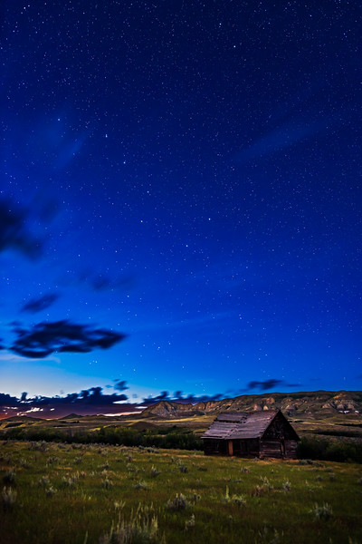 Ursa Major over Old Farmstead at Eastend