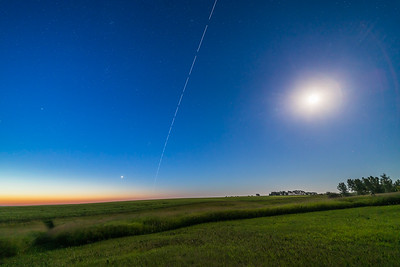 ISS Flying Away at Dawn