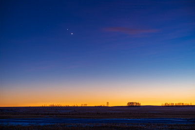 Jupiter and Saturn in Twilight #2