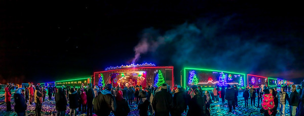 CP Holiday Train at Gleichen Panorama