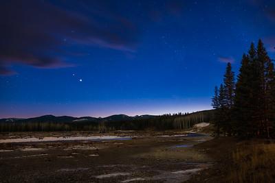 Jupiter and Saturn in Twilight at Allen Bill Flats