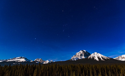 Orion and Canis Major over Mt. Temple