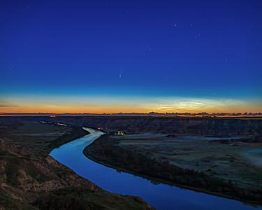 Comet NEOWISE over Red Deer River