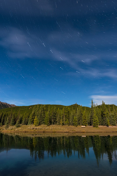 Big Dipper Star Trails over ForgetMeNot Pond