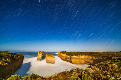 Orion Setting in Star Trails at Loch Ard Gorge