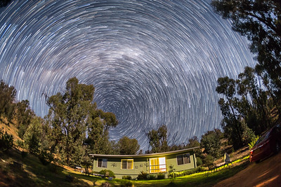 Circumpolar Stars over Tibuc Cottage
