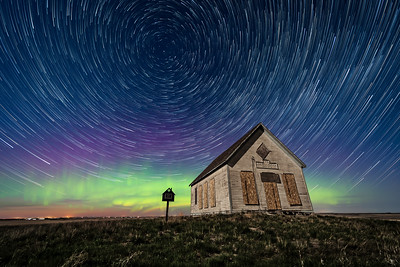 Liberty Schoolhouse with Star Trails