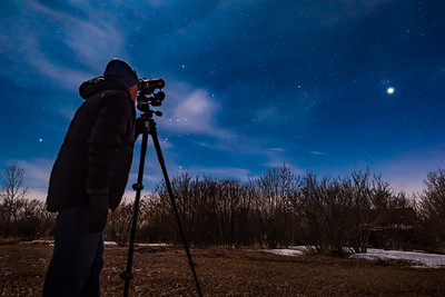 Viewing Venus & Pleiades with Tripod-Mounted Binoculars