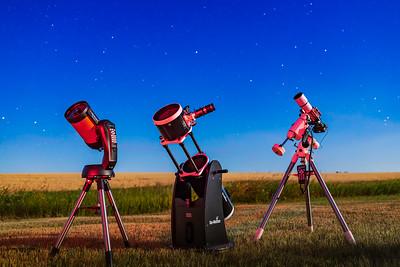 Telescope Trio in Moonlight v1