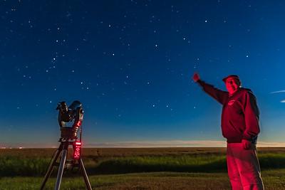 Selfie Pointing at Andromeda