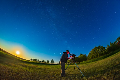 Selfie with Orion StarSeeker Telescope (Wide-Angle)