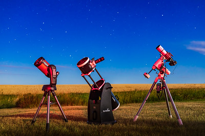 Telescope Trio in Moonlight v2