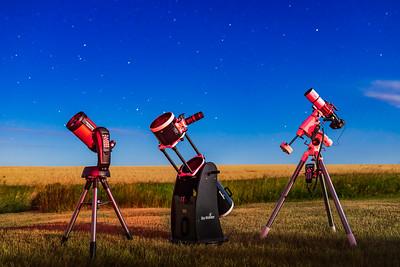 Telescope Trio in Moonlight v2