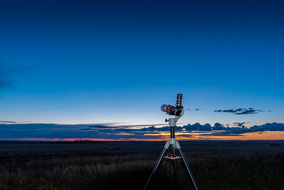 Telescope Observing Venus