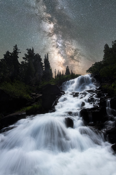 Twin Falls Milky Way, Mammoth Lakes