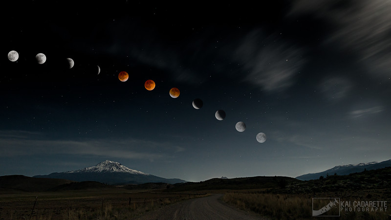 Blood Moon Over Mt. Shasta
