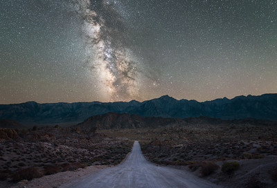 Movie Road, Alabama Hills milky way