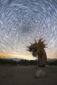 Anza Borrego startrails over the serpent