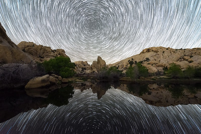 Barker Dam startrails, Joshua Tree National Park