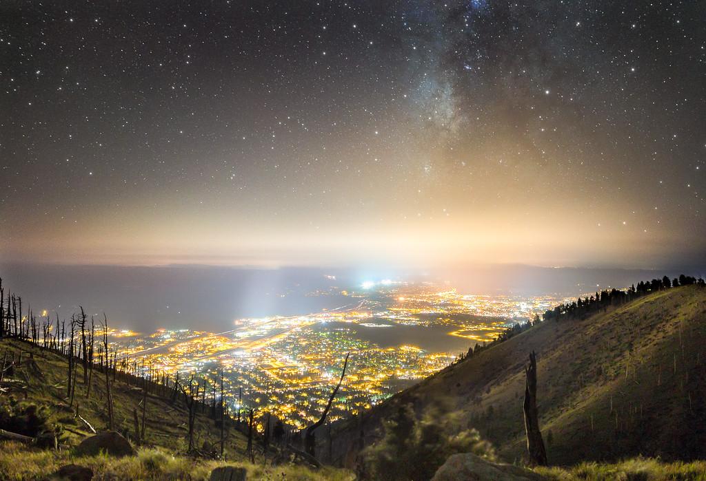 Flagstaff Lights from Mt. Elden