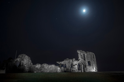 Denbigh Castle by Moonlight