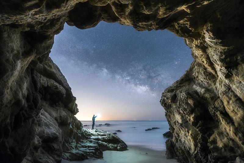 Malibu Leo Carrio beach milky way