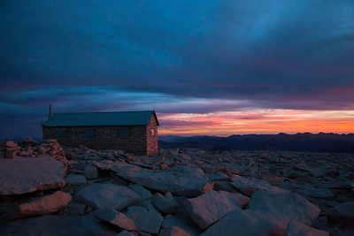 Mt. Whitney Hut at Sunset