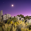 Moonset over Mono Lake Tufas 1