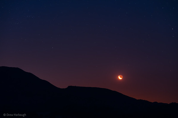 Moon and EarthShine over the Hill