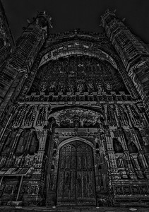 Chester Cathedral B&W HDR