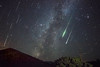A Shower of Perseids on Sunset Crater