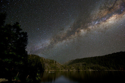 Pinecrest Lake under the Milky Way