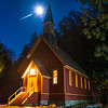 Yosemite Chapel and the Moonstar