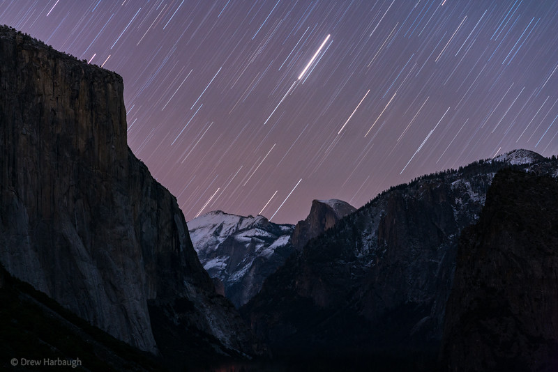 Arcturus Trails over Half Dome