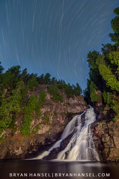 Star Trails, Caribou Falls and the International Space Station
