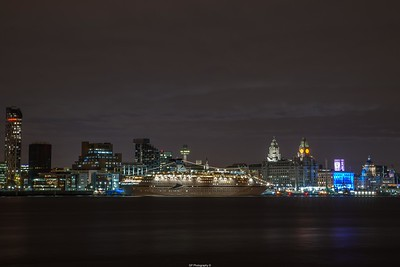 CMV Magellan Cruise Ship Docked in Liverpool along the famous waterfront