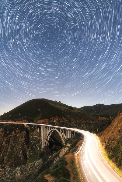 Bixby bridge startrails