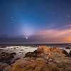 Venus and Taurus over the Monterey Coast