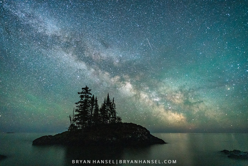 The Milky Way over a Lake Superior Island