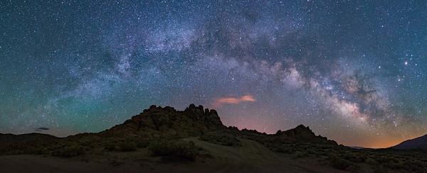 Alabama Hills Milky Way Panorama