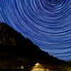 Star trail with some Perseids Meteorides