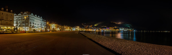 Llandudno by Night Panoramic