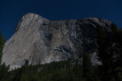El Capitan - lit only by moonlight