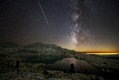 Perseids over Hell For Sure Lake